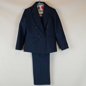 Enzo Carlino Double Breasted Boy's Suit Sz 6 or 7